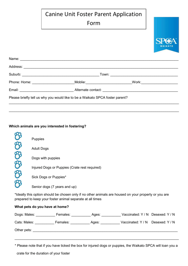 Spca Landlord Consent Form