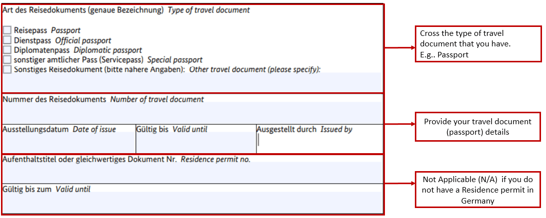 Spouse Visa Application Form Germany