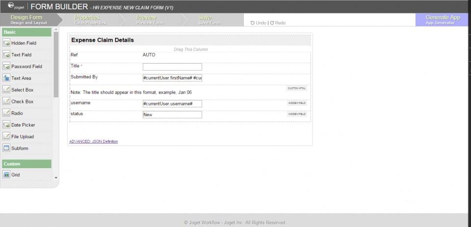 Sql Server Form Builder