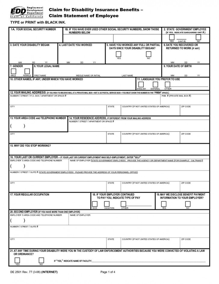 Ssi Disability Review Form