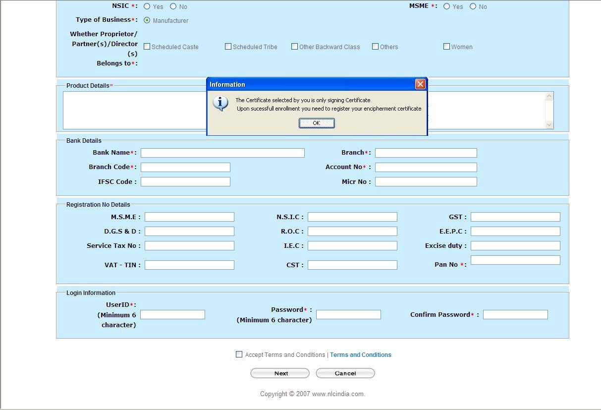 Ssi Online Registration Form Chennai