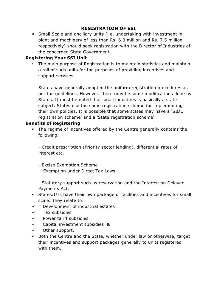 Ssi Registration Formalities