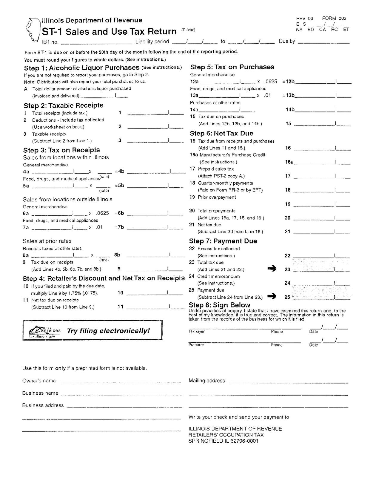 St1 Form Online Registration