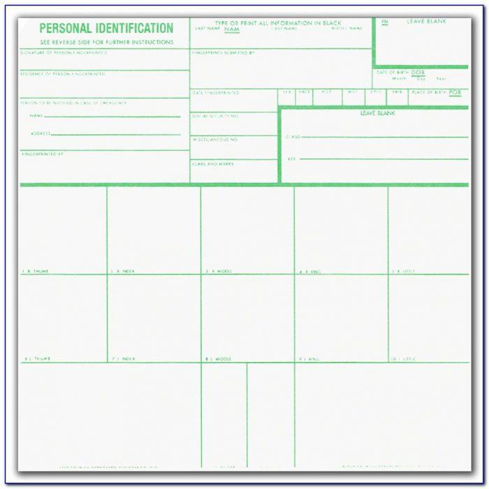 Standard Fingerprint Form (fd 258) Example