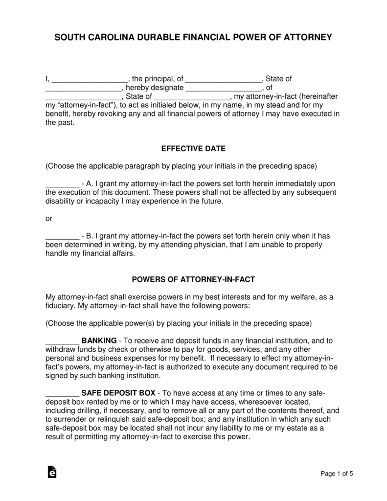 State Bar Of Michigan Durable Power Of Attorney For Finances Form