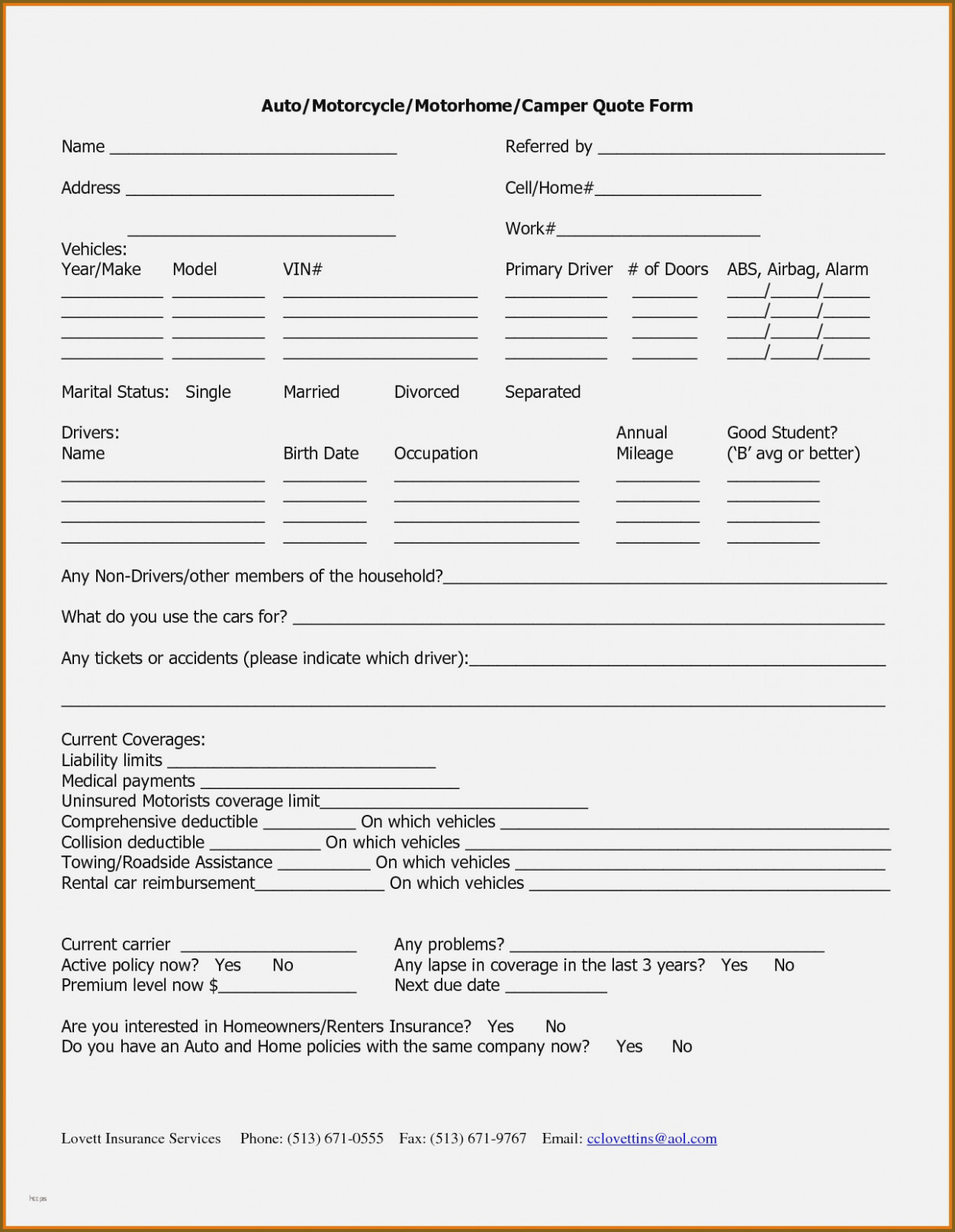 State Farm Renters Policy Form