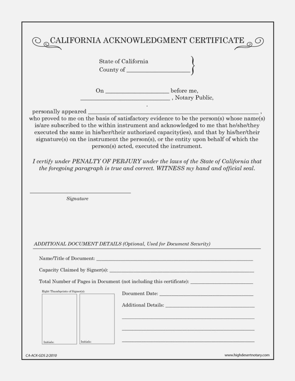 State Of California Notary Public Forms