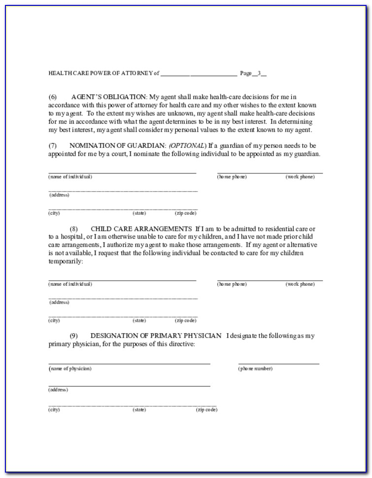 State Of Maine General Power Of Attorney Form