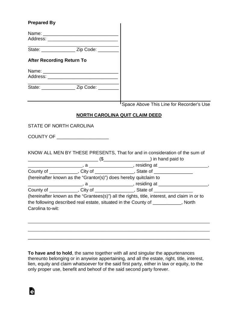State Of North Carolina Divorce Forms