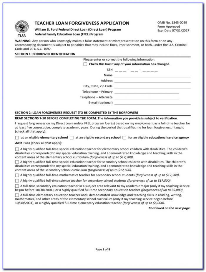 Student Loan Deferment Form 2017