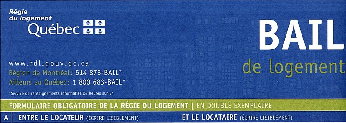 Sublet Lease Form Quebec