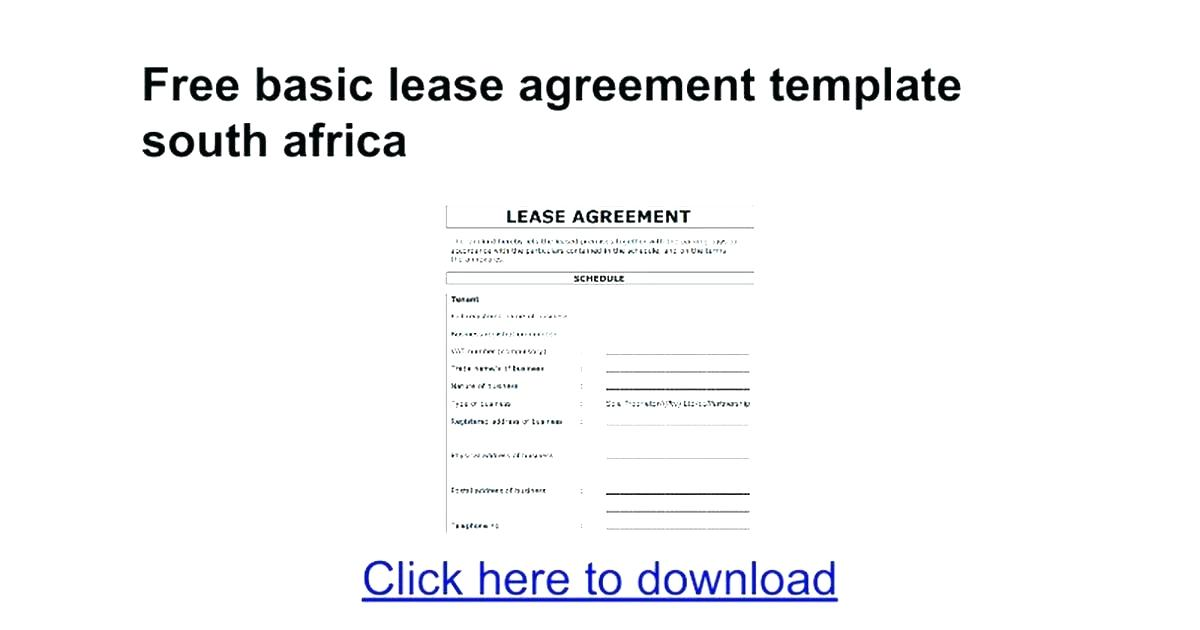 Sublet Lease Sample