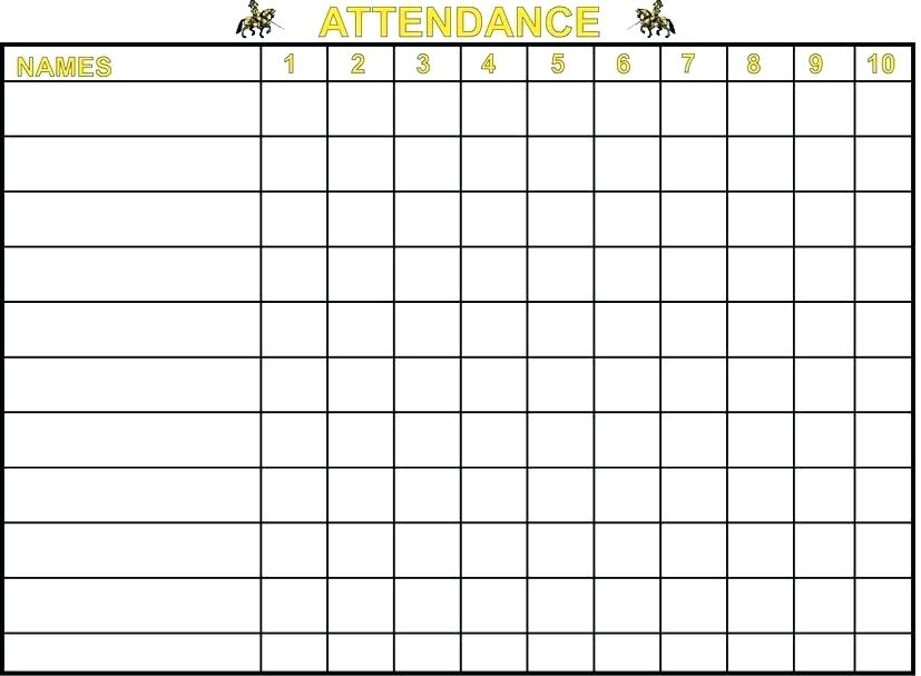Sunday School Weekly Attendance Sheet