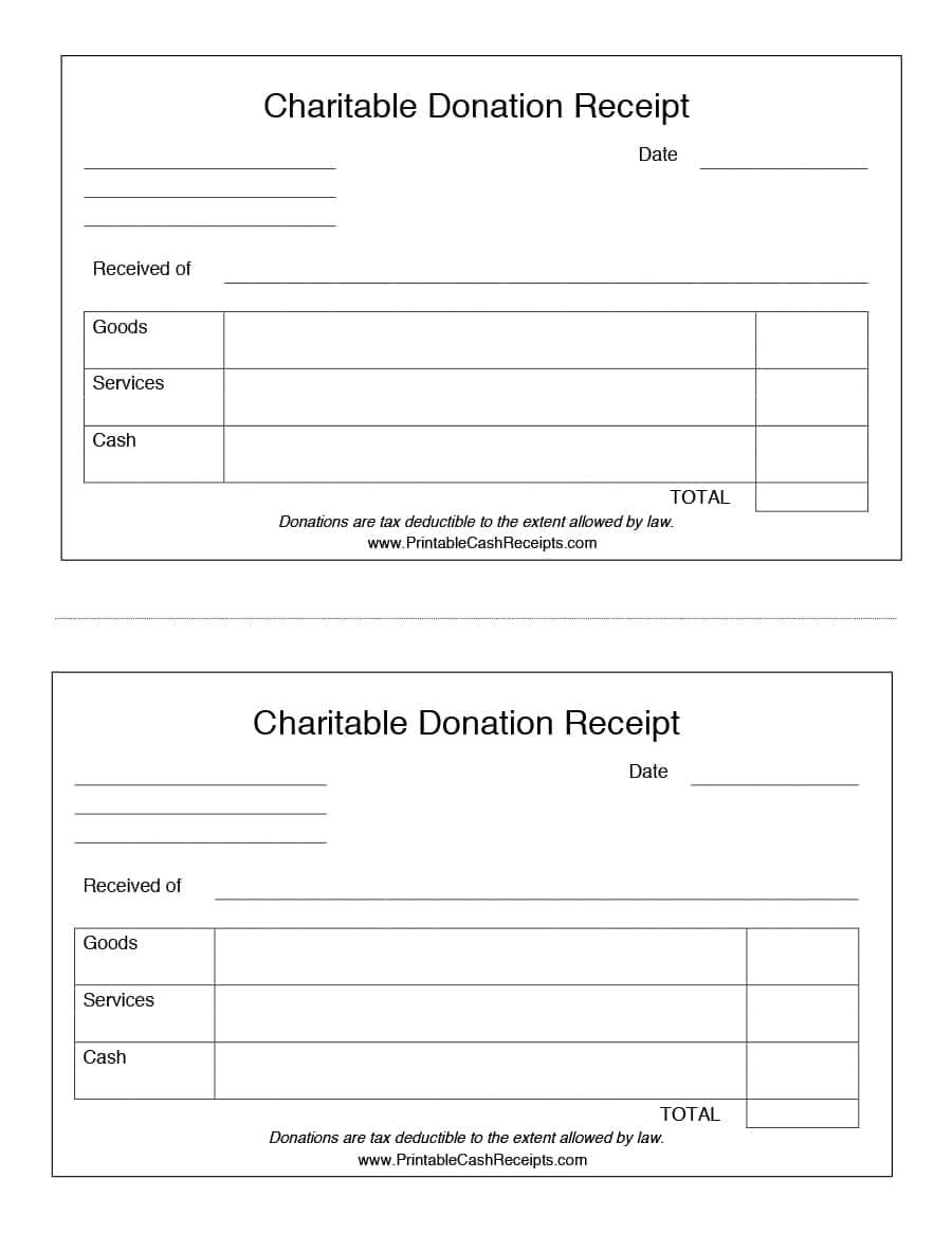 Tax Deduction Form For Clothing Donation