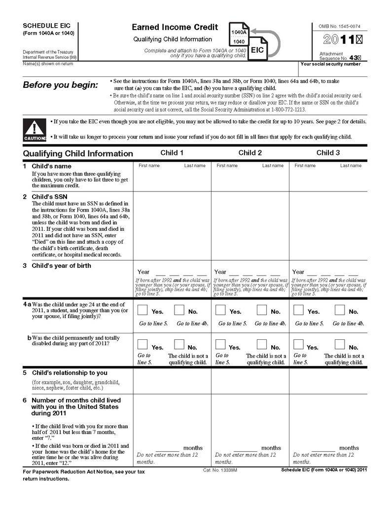 Tax Form 1040 Instructions