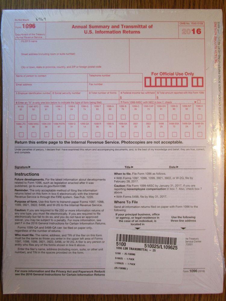 Tax Form 1099s