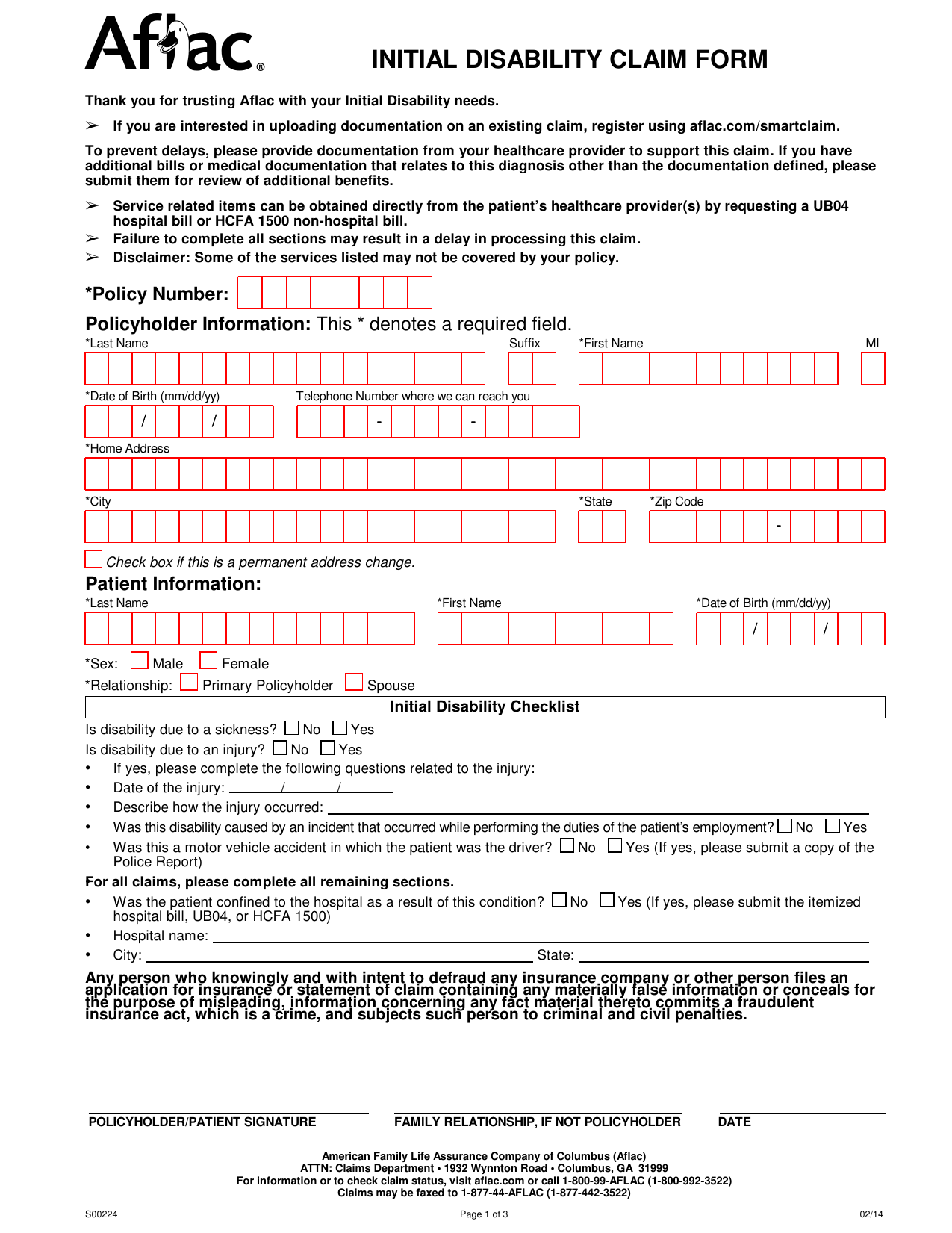 Temporary Disability Forms Pa