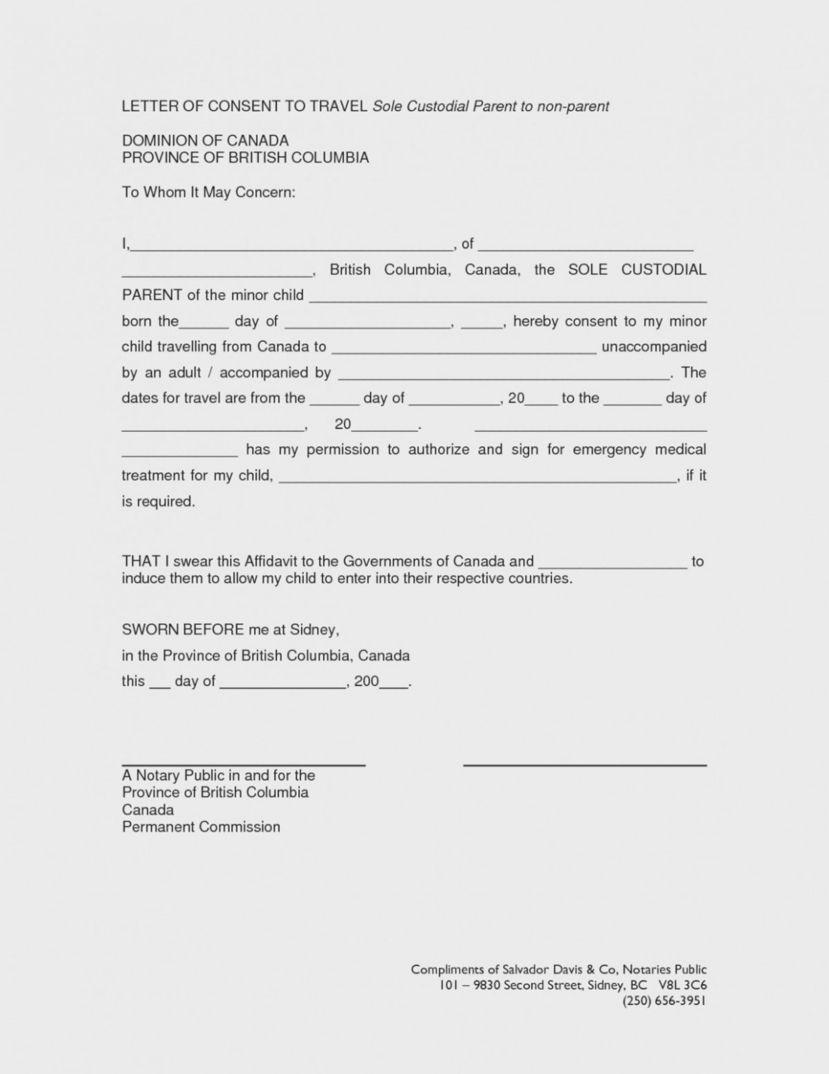 Temporary Guardianship Agreement Form Arkansas