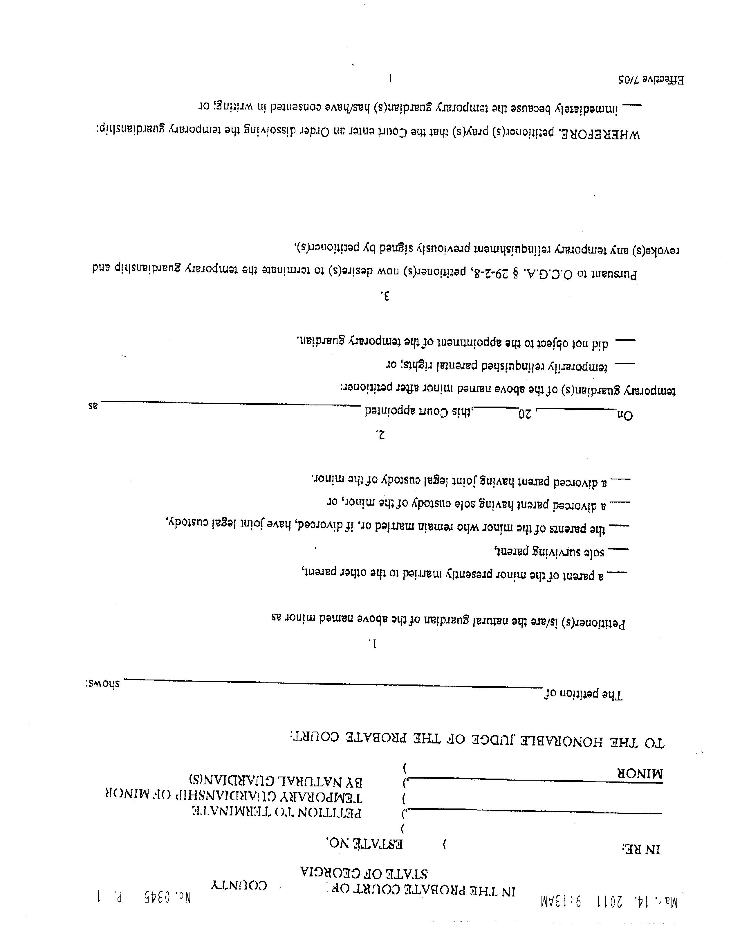 Temporary Guardianship Agreement Form California Sample Business Letter June 2015