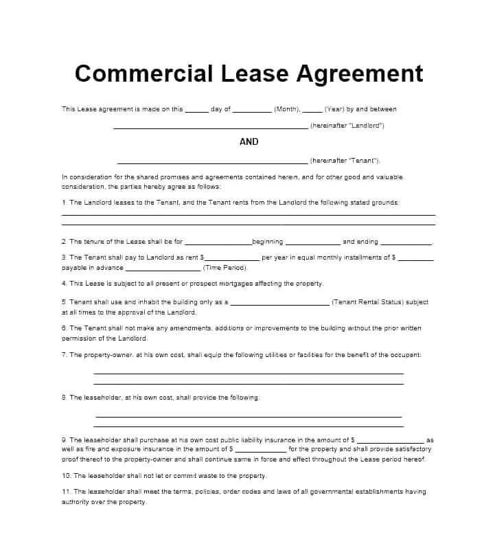 Tenancy Agreement Form Ireland