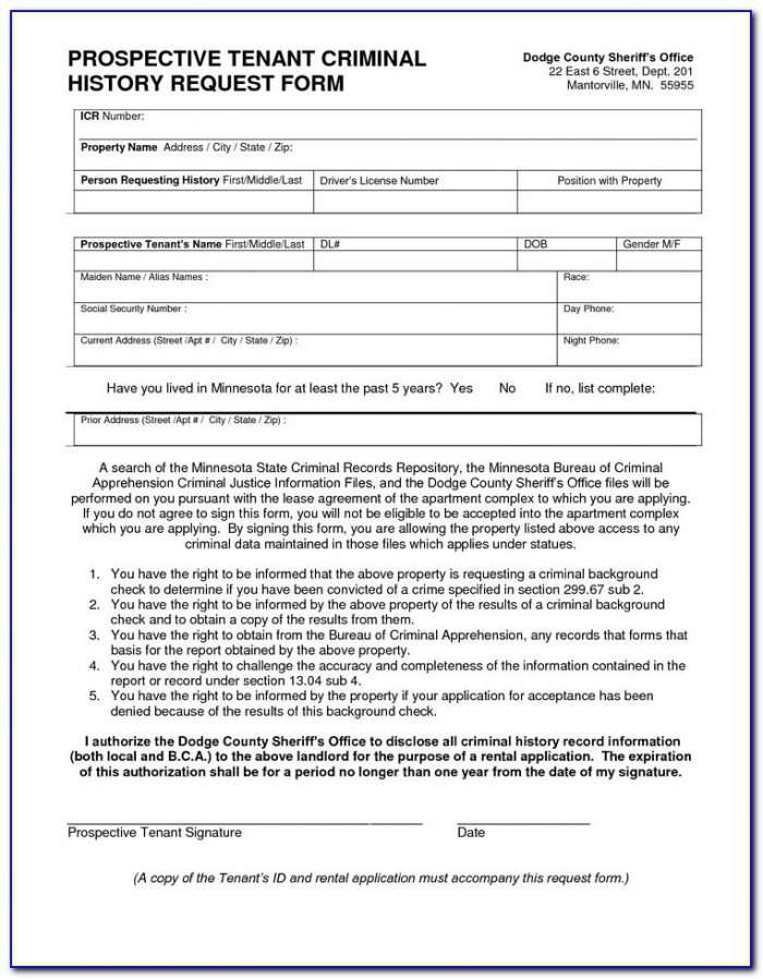 Tenant Background Check Permission Form