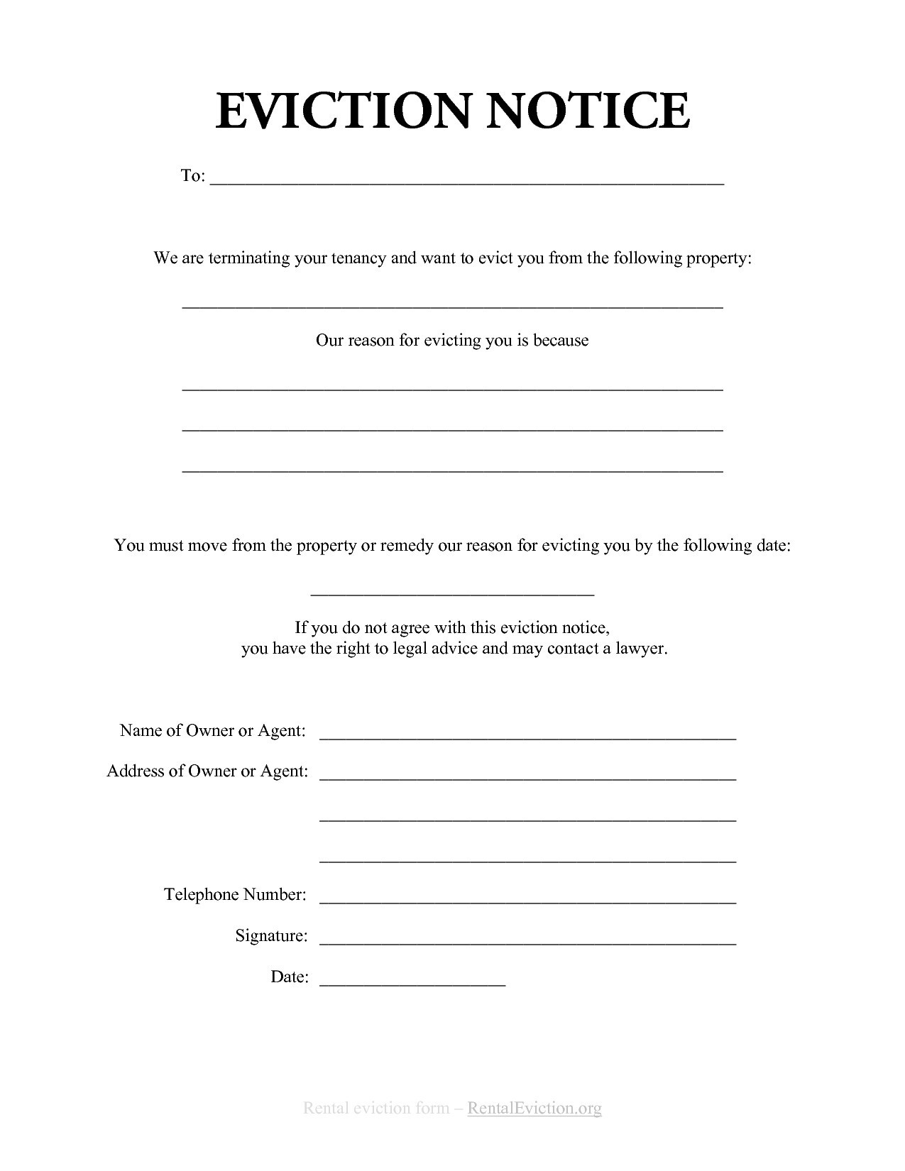 Notice Eviction Letter Template Fresh 30 Day Eviction Notice Form Tenant Eviction Notice Form