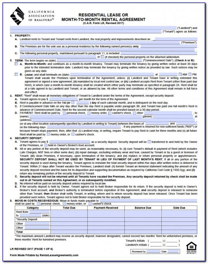 Tenant Screening Application Form Pdf