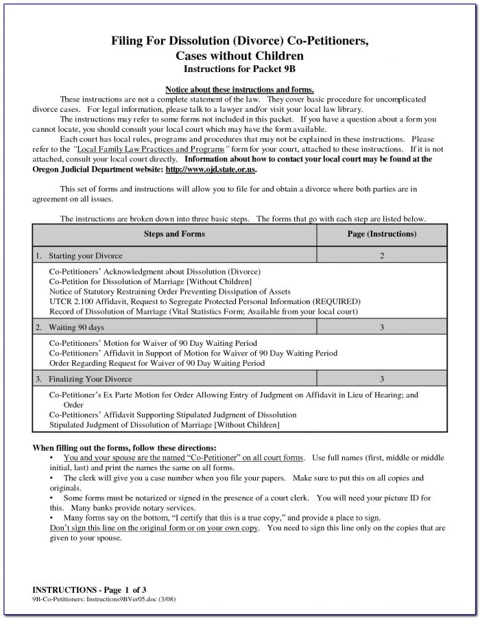 Termination Of Guardianship Forms Oregon