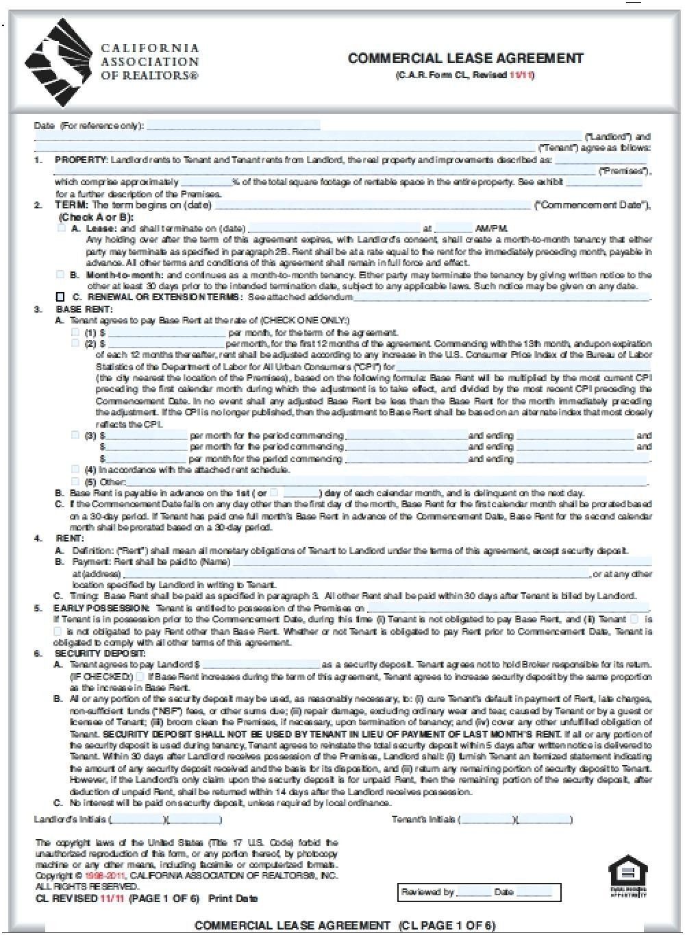 Texas Rental Agreement Contract Texas Association Of Realtors Commercial Lease Agreement Form Nickcornishphotography Com