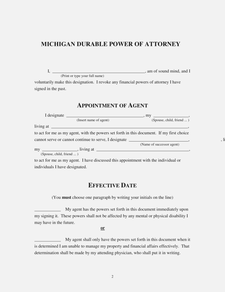 Texas Durable Power Of Attorney Form 2017 Pdf