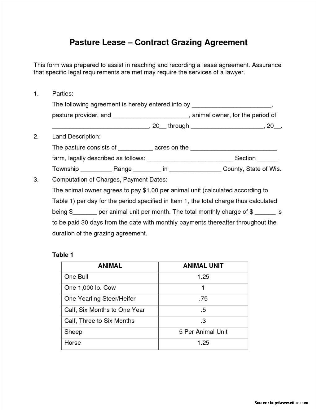 Grazing Lease Form Texas Form Resume Examples J1akn0vgme Texas Lease Agreement Form