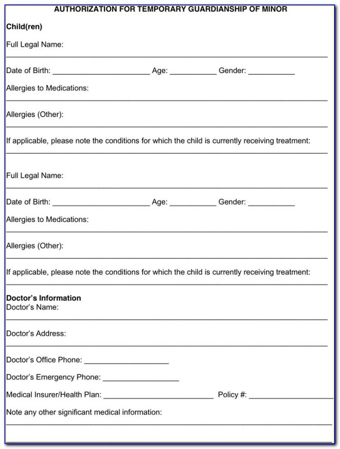 Texas Legal Guardianship Of A Minor Forms