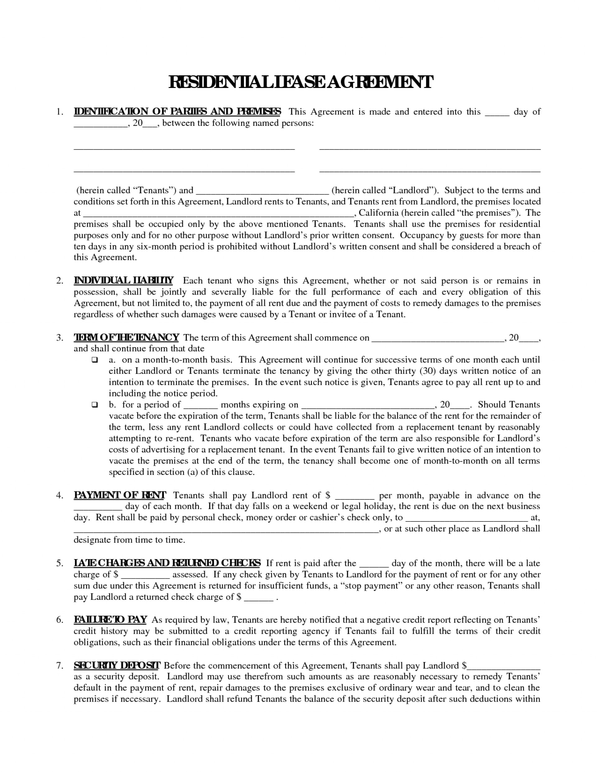 Texas Rent Agreement Form