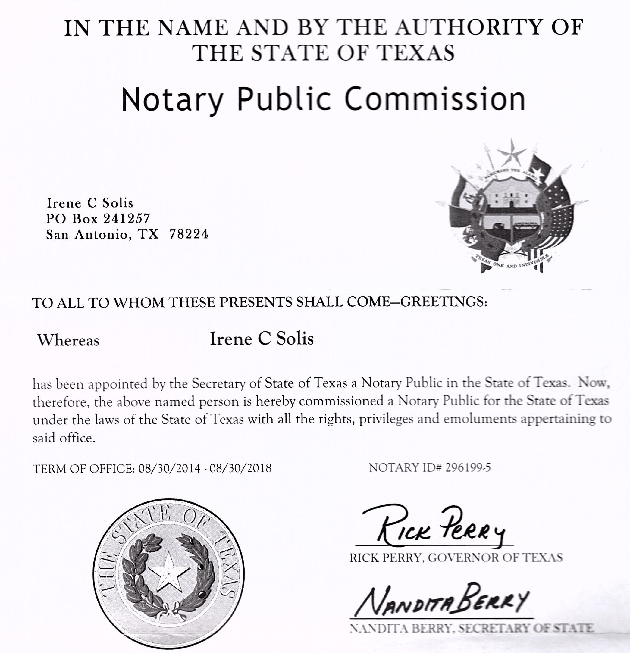 Texas State Notary Laws