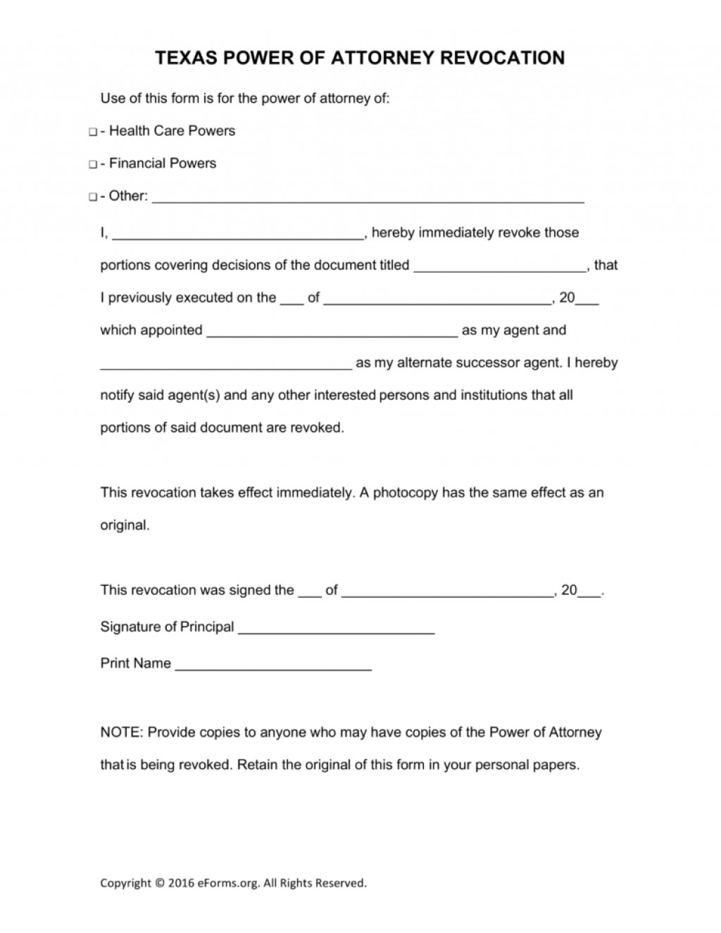 Texas Statutory Durable Power Of Attorney Form Pdf