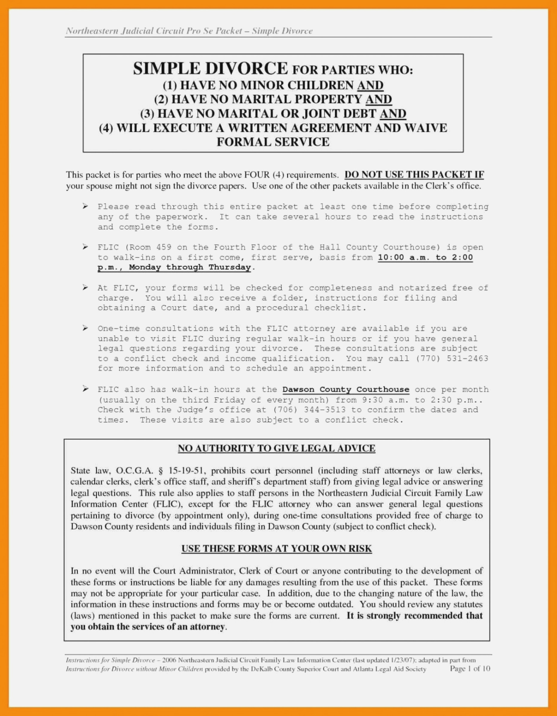 Texas Supreme Court Pro Se Divorce Forms