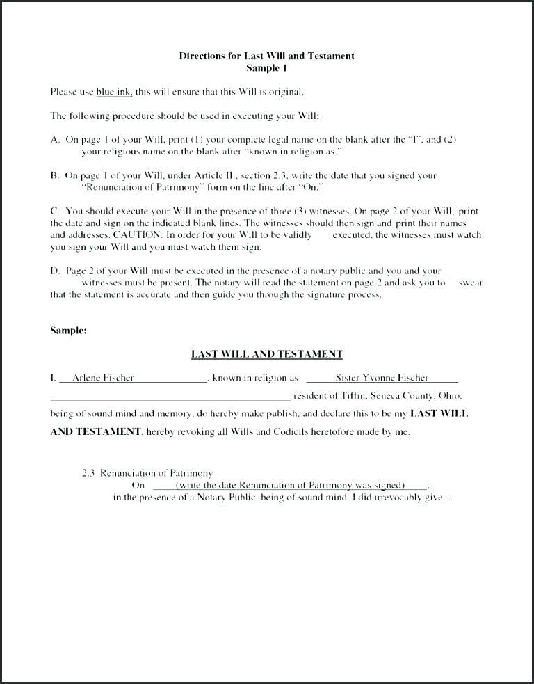 Texas Wills Forms Free