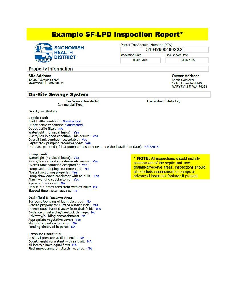 Title 5 Septic System Inspection Form