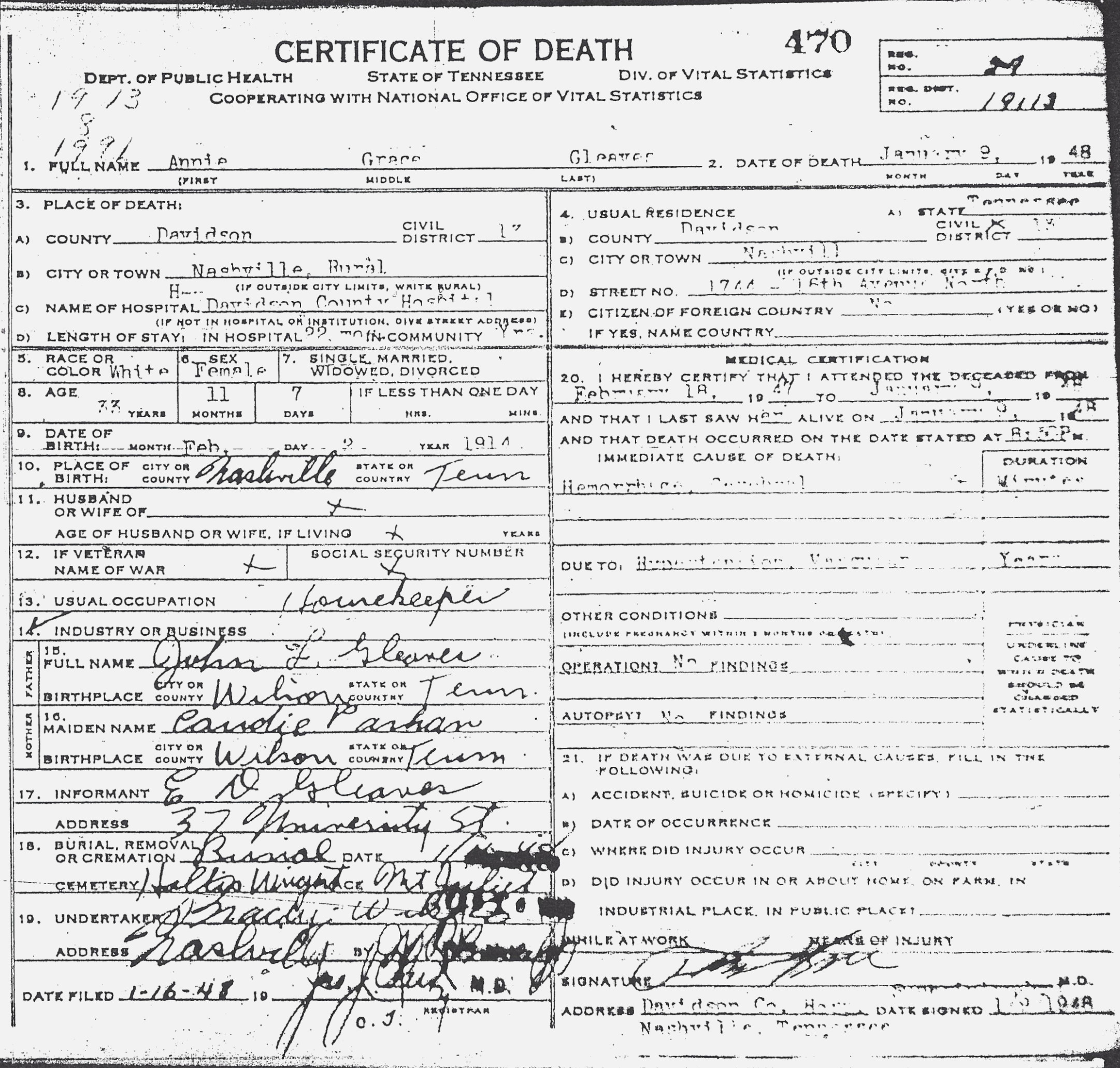 Tn Birth Certificate Application Form
