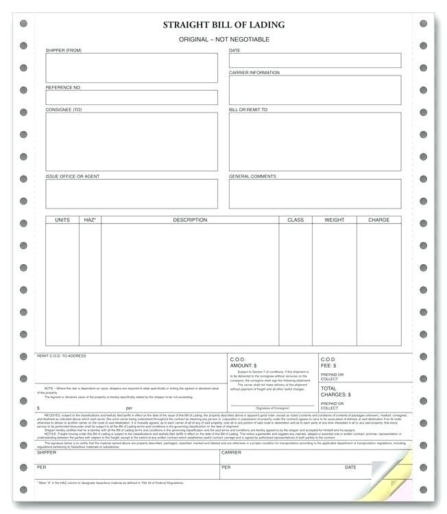 Tracking Form Bill Of Lading