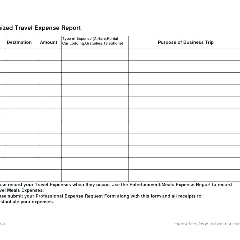 Travel Expense Claim Form Template
