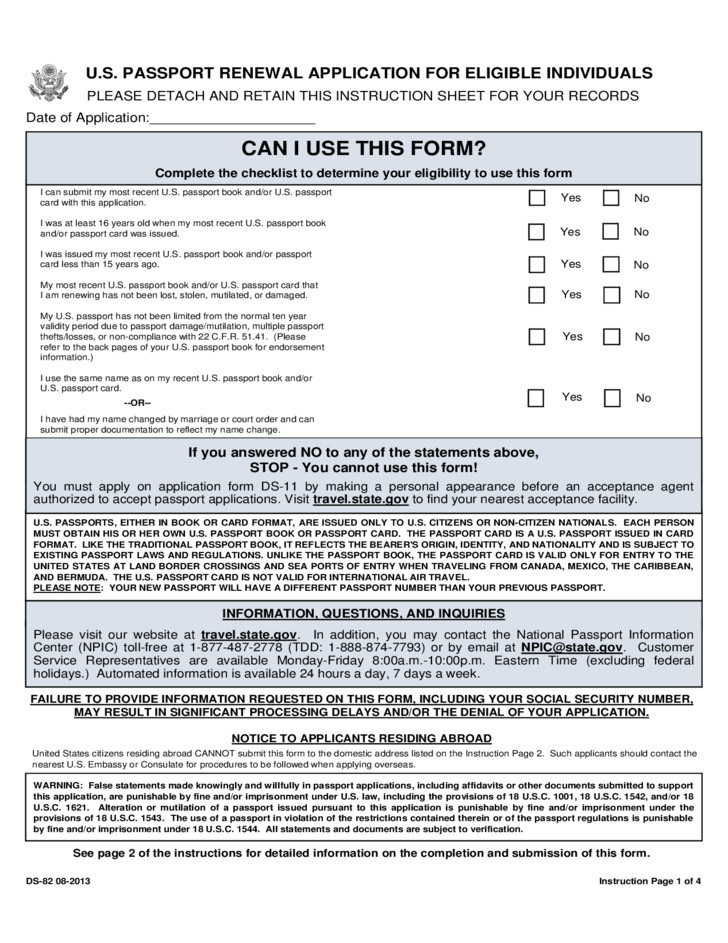 Us Passport Form Ds 11 21 Inspirational Ds 82 Printable Form Great Printable