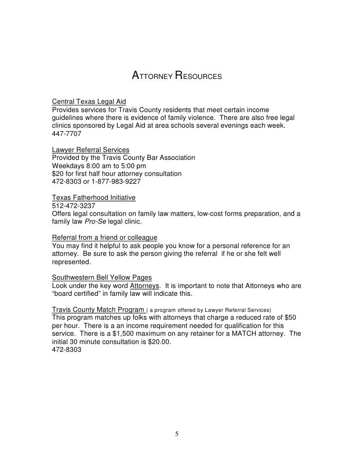 Travis County Clerk Divorce Forms