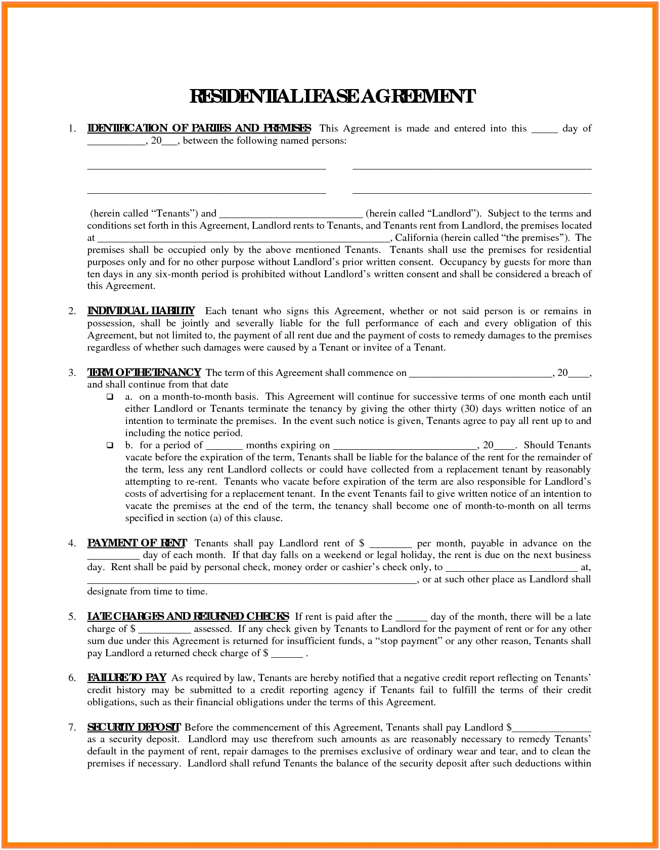 Truck Owner Operator Lease Agreement Form
