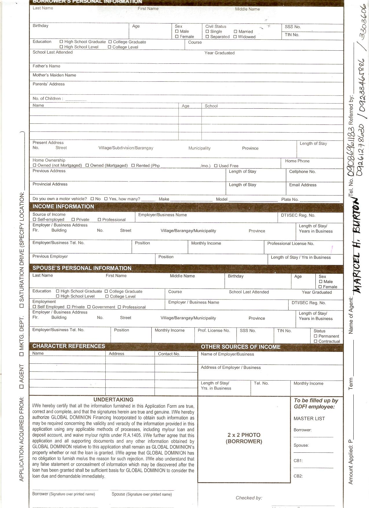 Tsp Loan Payoff Form