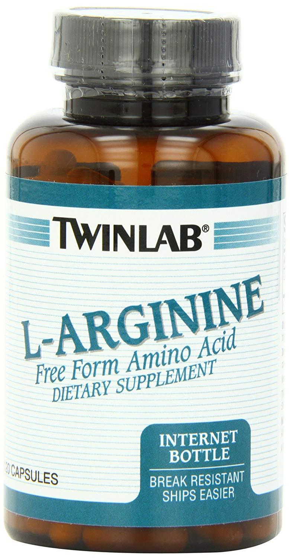 Twinlab L Arginine Free Form Amino Acid Dietary Supplement