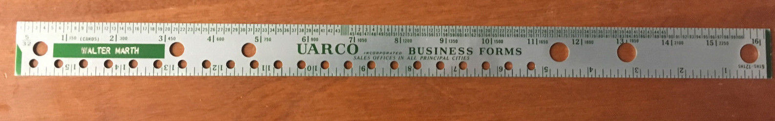 Uarco Business Forms Ruler