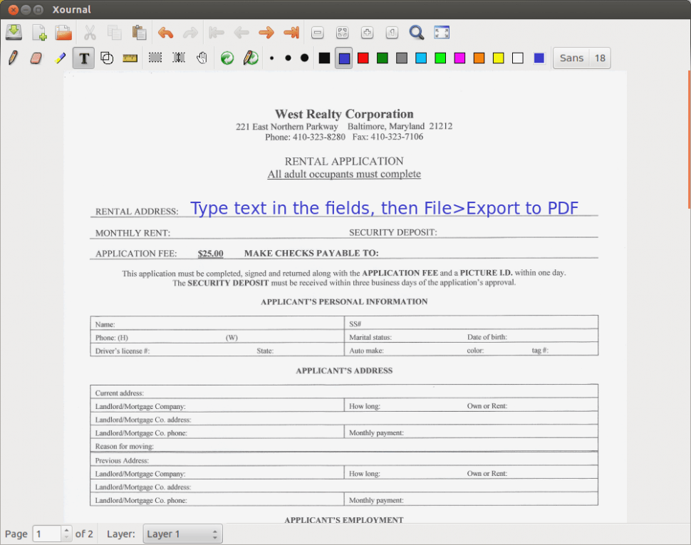 Ubuntu Create Editable Pdf Form