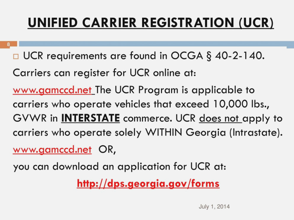Unified Carrier Registration Form 2017