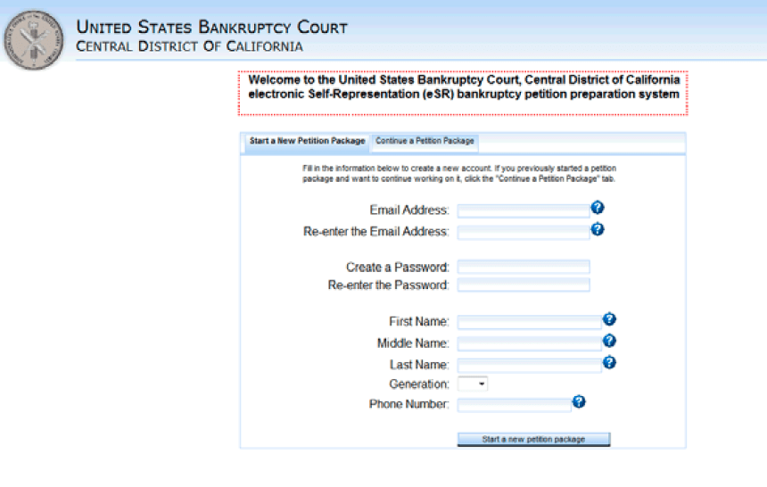 Us Bankruptcy Court Central District California Chapter 7 Forms